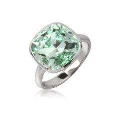 Chrysolite cushion ring