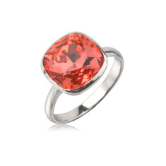 Padparadcha cushion ring