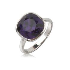 Purple velvet cushion ring