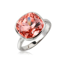 Rose peach cushion ring