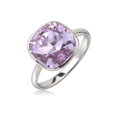 Violet cushion ring
