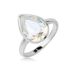Moonlight teardrop ring