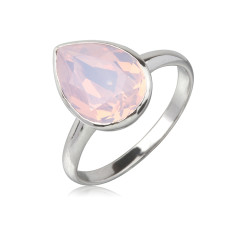 Rose water teardrop ring