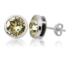 Jonquil round stud earrings