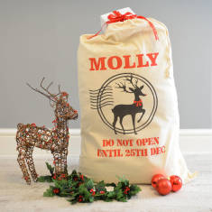 Personalised Reindeer Christmas Sack
