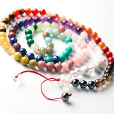 I love chakras deluxe rainbow mala beads