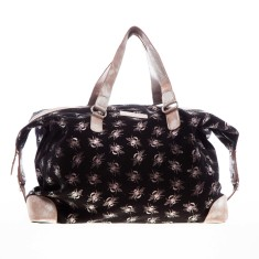 nooki design - savannah metallic bee printed overnight bag
