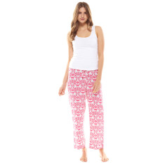 Hope Crop Pant & Tank Set Pink & White