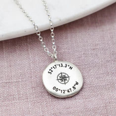 Personalised Sterling Silver Coordinates Necklace
