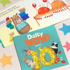 Personalised 'Wow You're Ten' 10th Birthday Children's Book