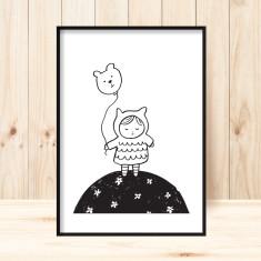 Little lucy art print