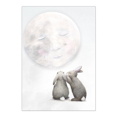 Moon Rabbits Print