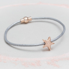 Carina Leather Star Bracelet