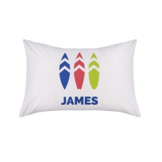 Personalised Boys Surfboard Pillowcase