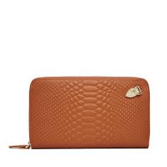 Working girl wallet/clutch in rust