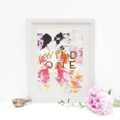 Personalised Metallic Tropical Print