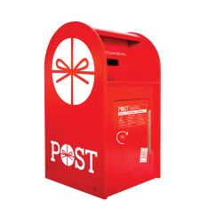 Iconic wooden toy post box