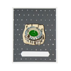 Iconic Melbourne cricket ground card and envelope