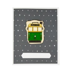Iconic Melbourne tram card & envelope