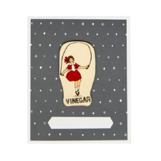 Iconic Melbourne skipping girl card and envelope