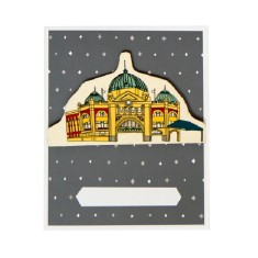 Iconic Melbourne flinders street card and envelope