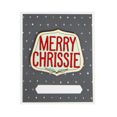 Iconic Merry Chrissie card and envelope