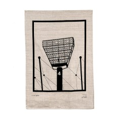 Iconic Melbourne Cricket Ground lights tea towel