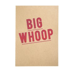 Iconic big whoop notepad