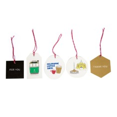 Melbourne city iconic gift tags