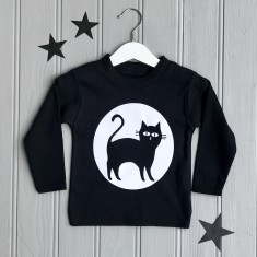Halloween Cat Children's T shirt