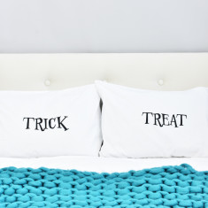 Trick Or Treat Halloween Pillow Case Set