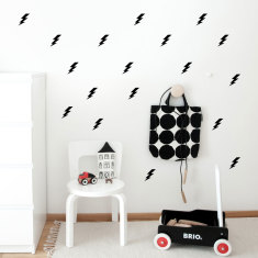 Lightining bolts wall decal