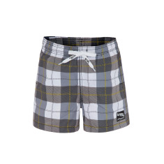 Boys' UPF 50+ Checkmate Swimshort with Drawstring Waist
