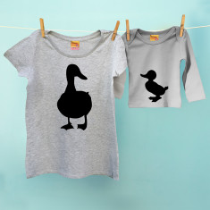 Mother duck & duckling t shirt twinset set for mums and kids