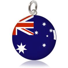 Australian flag meniscus pendant