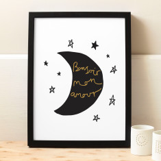 French Moon Print