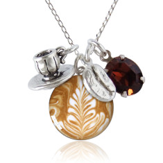 Barista charm necklace