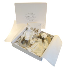 Organic new baby gift box set