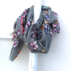 Personalised butterfly print scarf