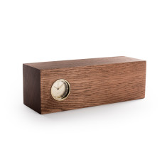 LEFF Amsterdam tube wood clock (various colours)