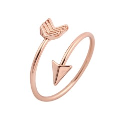 Arrow ring in rose gold