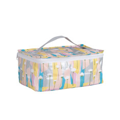 Bathroom bag in Pastel Poppies by Leah Bartholemew Print