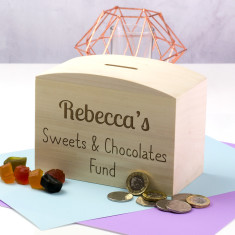 Personalised Sweets & Chocolates Fund Money Box