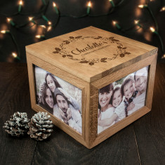 Personalised Christmas Memory Box Mistletoe Design