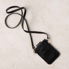 Mobile phone pouch in black