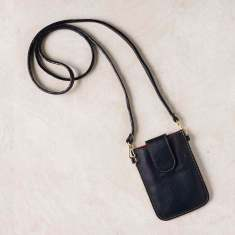Mobile phone pouch in navy