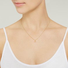 Wishbone necklace 18k rose gold vermeil