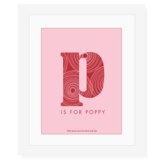 Girl's modern monogram print (own colours)