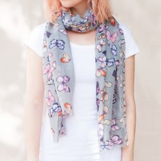Thea butterfly print scarf