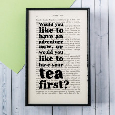 Peter pan tea and adventure print